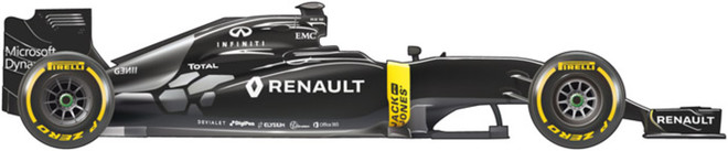 El coche de Renault para el Mundial 2016 de F1