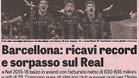 La Gazzetta dello Sport destaca el 'sorpasso' econ�mico del Bar�a sobre el Real Madrid