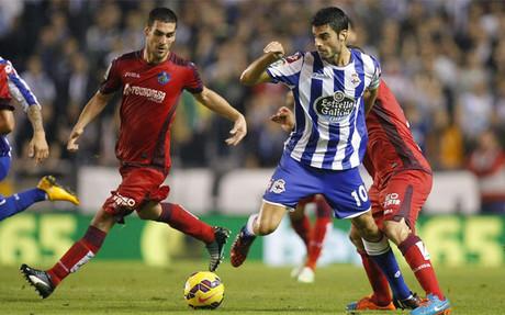 El Getafe super� con merecimiento al Deportivo en Riazor