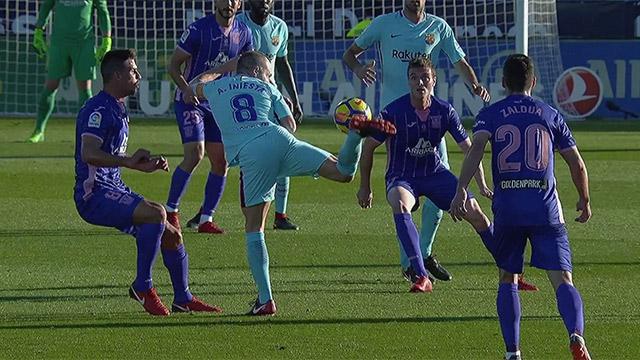 La jugada de fantasía del Barcelona ante el Leganés (ES)