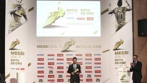 Leo Messi, ganador de cuatro Botas de Oro