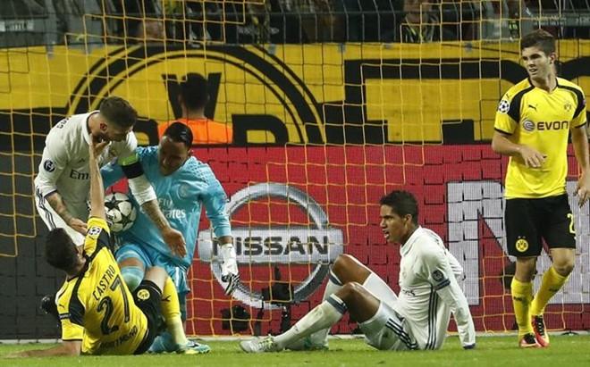 El Madrid, en un partido de Champions
