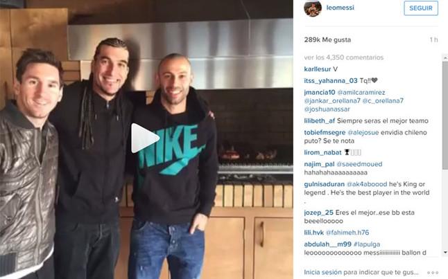 El homenaje de Messi a sus 20 millones de fans en Instagram