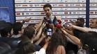 Pau Gasol atendiendo este lunes a los medios de comunicación en Madrid