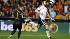 Ter Stegen, superado por Negredo en el gol del Valencia contra el Bar�a en la semifinal de la Copa del Rey 2015/16