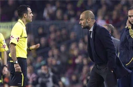 Velasco Carballo tambi�n amonest� a Pep Guardiola