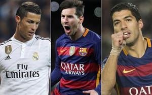 Cristiano Ronaldo, Messi y Suárez luchan por el Pichichi y la Bota de Oro
