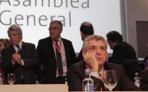 Ángel María Villar en un momento de la asamblea celebrada en Madrid