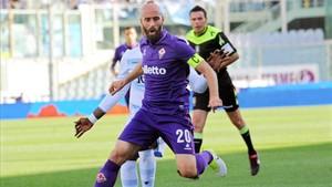 Borja Valero, en un partido con la Fiorentina