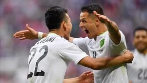 México celebró la victoria sobre Rusia