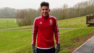 Maximiliano Villa estuvo entrenando con el Middlesbrough