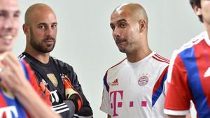 Reina y Guardiola ya coincidieron años atrás en el Bayern