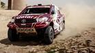 Al Attiyah ha dominado con su Toyota Hilux en la Baja Aragón
