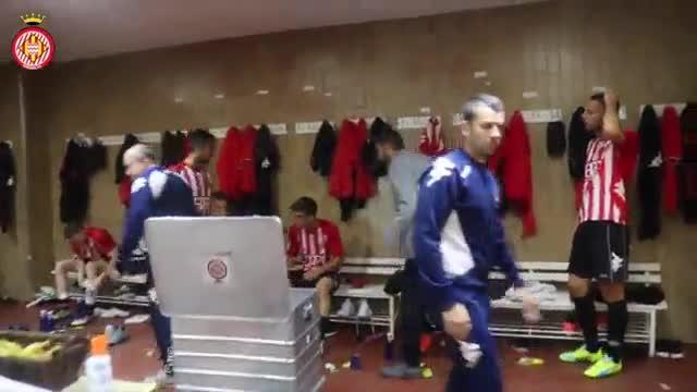 As� se vivi� en el vestuario del Girona el empate contra el Valladolid