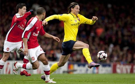 El del Arsenal fue uno de los mejores partidos disputados por Ibrahimovic como cul�