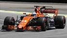 Fernando Alonso, en acción durante el último GP de Brasil