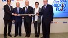 Pol Amat, Narc�s Carri�, Xavier Queralt, Marta Puig e Ignasi Cusid� presentaron la Lliga BBVA Hockey Plus
