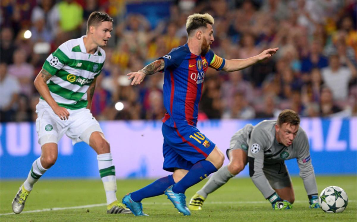 Messi, Neymar y Suárez brillan en la goleada europea del Barça