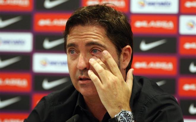 Pascual se emocion� durante la rueda de prensa