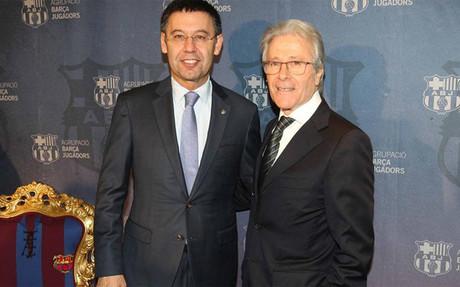 El presidente del Barcelona junto a Ramon Alfonseda