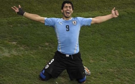 Suarez after hitting winner against England