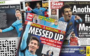 Las portadas de la prensa inglesa