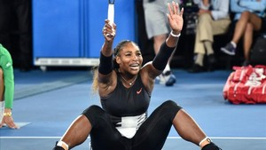 Serena Williams tras ganar a su hermana en Australia