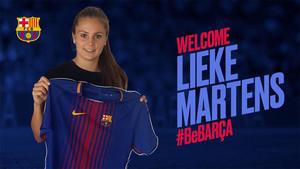 Lieke Martens, con la camiseta del Barça