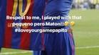 El mensaje de Alves a Messi en Instagram tras el 2-3 en el Clásico