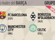 As� ha quedado el Grupo C: FC Barcelona, Manchester City, Borussia Moenchengladbach y Celtic