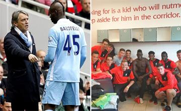 Balotelli se entrena con los juveniles del Liverpool en el aniversario de su pifia m�s famosa