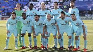 El FC Barcelona 2017 - 2018 ha sumado este sábado en Leganés el octavo partido de Liga sin recibir goles