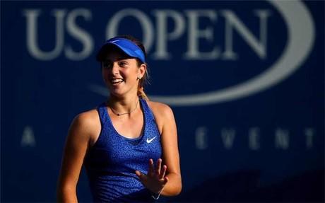 Bellis en su encuentro de primera ronda del US Open