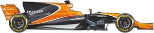 El coche de McLaren para el Mundial de F1 2017