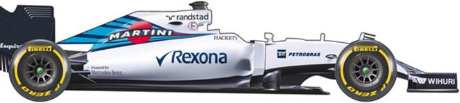 El coche de Williams para el Mundial de F1 de 2016
