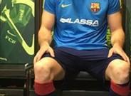 Edu Lamas volvi� a patinar en el Palau Blaugrana cinco meses despu�s de su lesi�n