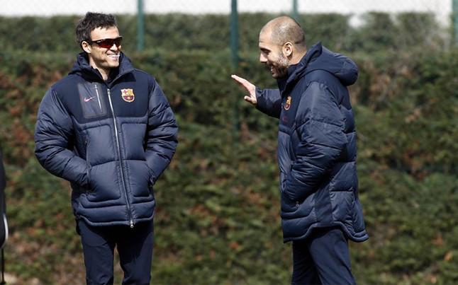 Luis Enrique acaricia el r�cord de Guardiola