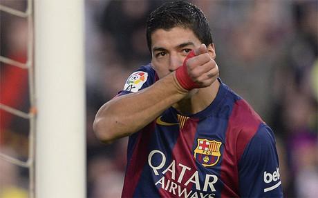 Luis Su�rez marca en la Liga BBVA