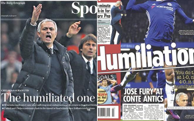 La prensa brit�nica fue muy dura con Mourinho