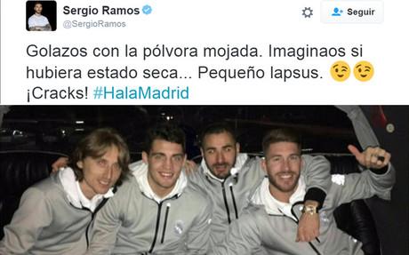 Sergio Ramos se ri� de sus declaraciones a trav�s de Twitter