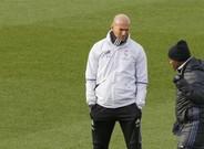 Zidane, en el último entrenamiento