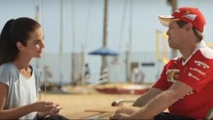 Vettel cambia el circuito por la playa