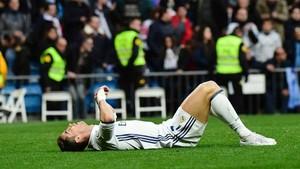 Cristiano Ronaldo acabó con molestias el partido