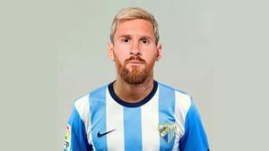 El montaje de Leo Messi con la camiseta del Málaga