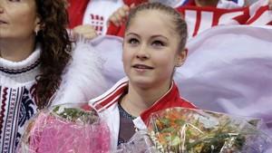 Yulia Lipnitskaya en los Juegos Olímpicos de Sochi 2014