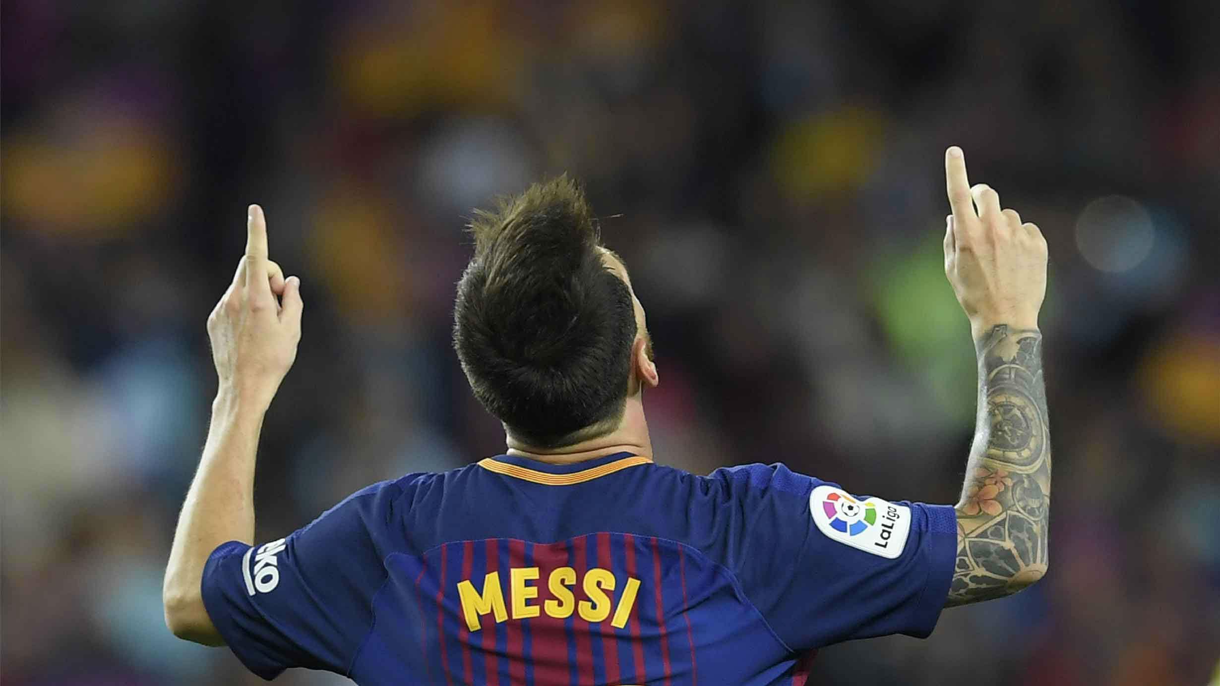 LALIGA | Barça-Espanyol (5-0): Los tres goles de Messi