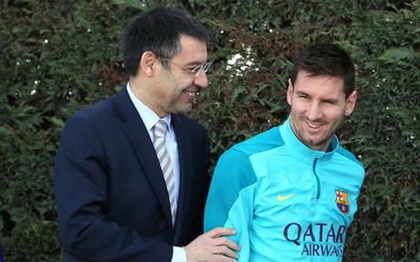 Bartomeu quiso defender p�blicamente a Messi