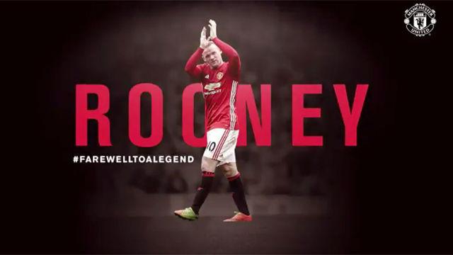 El homenaje del Manchester United a Rooney