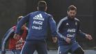 Leo Messi en un momento de la última sesión preparatoria