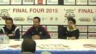 Los entrenadores del Vic, Barça y Breganze en rueda de prensa